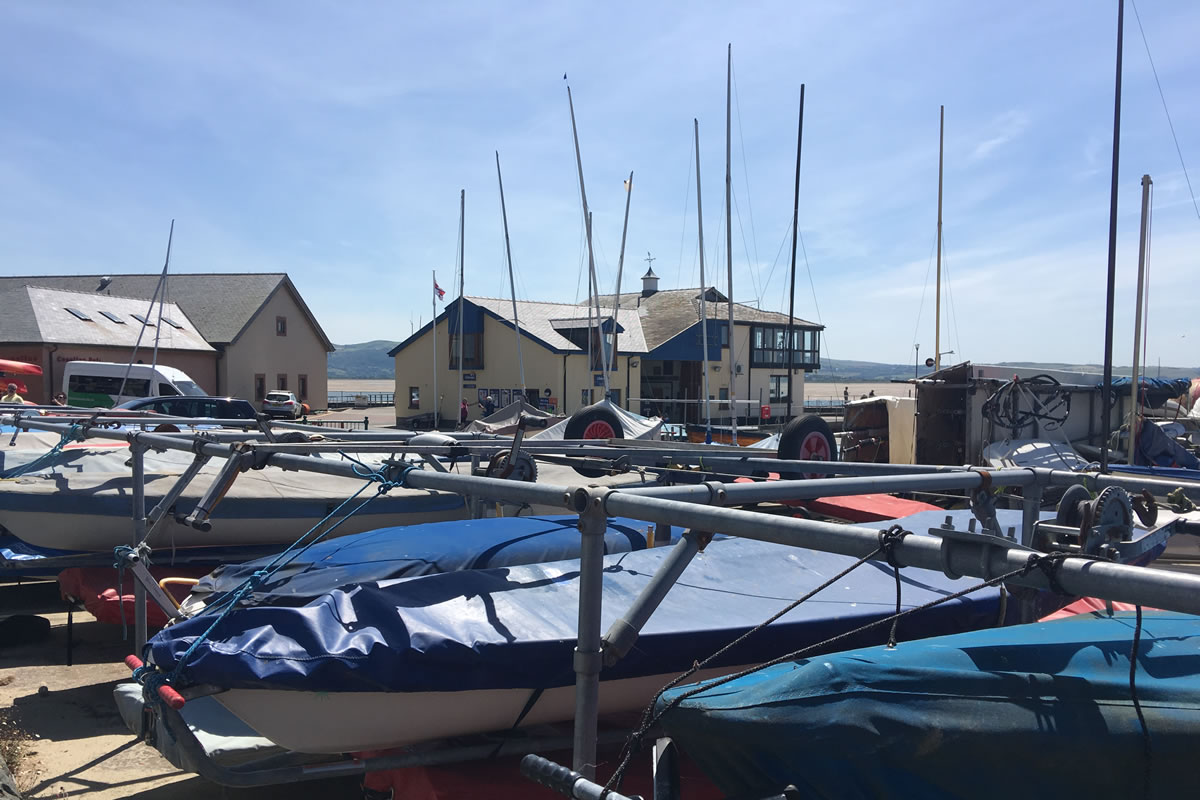 Aberdovey RNLI life boat station and yacht club