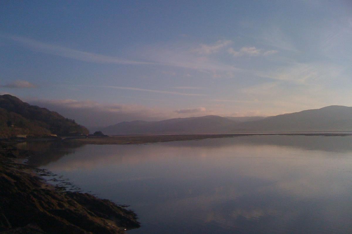 Dovey estuary at dusk