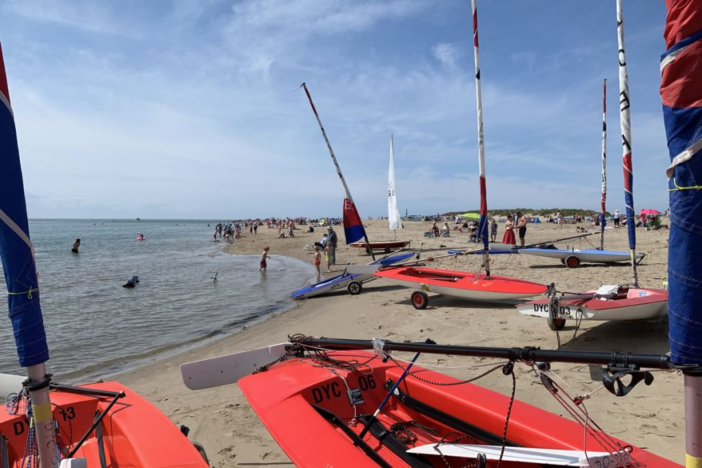 Aberdovey beach on a summers day
