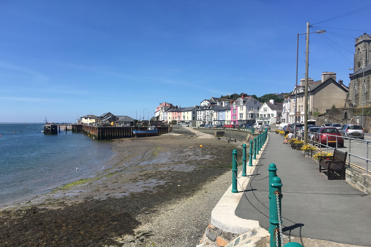 Aberdovey wharf at low tide